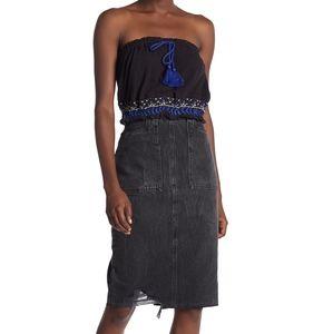 NWT Free People Elisa Denim Pencil Skirt